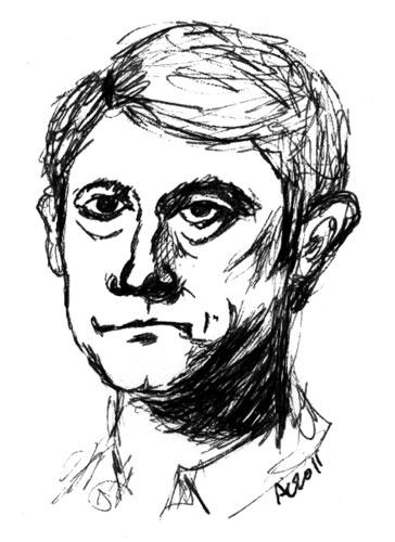 Watson pen sketch by Amy Crook