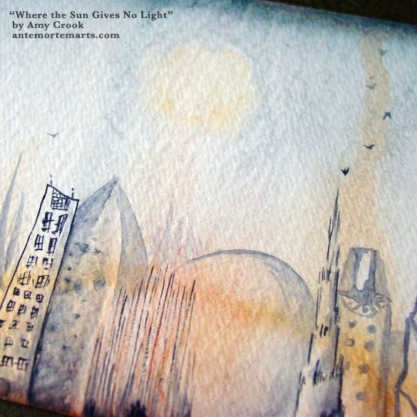 Where the Sun Gives No Light, detail, by Amy Crook