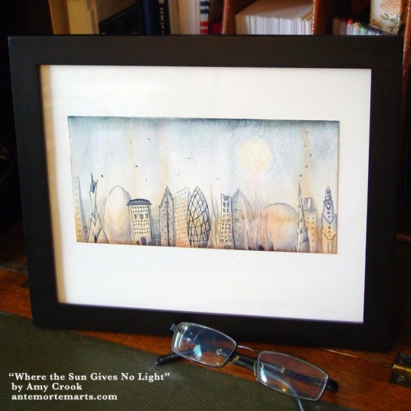 Where the Sun Gives No Light, framed art by Amy Crook