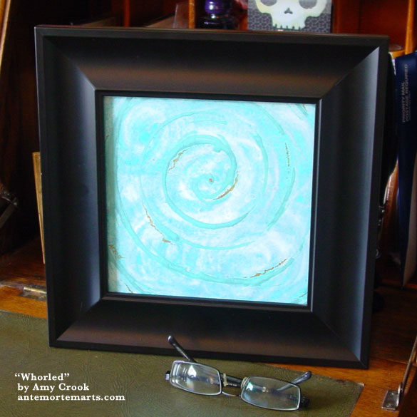 Whorled, framed art by Amy Crook