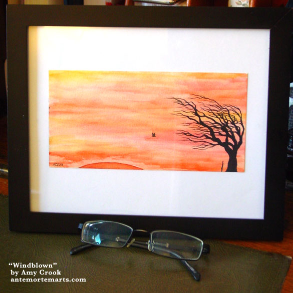 Windblown, framed art by Amy Crook