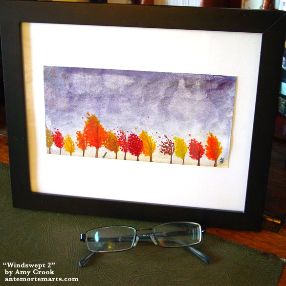 Windswept 2, framed art by Amy Crook