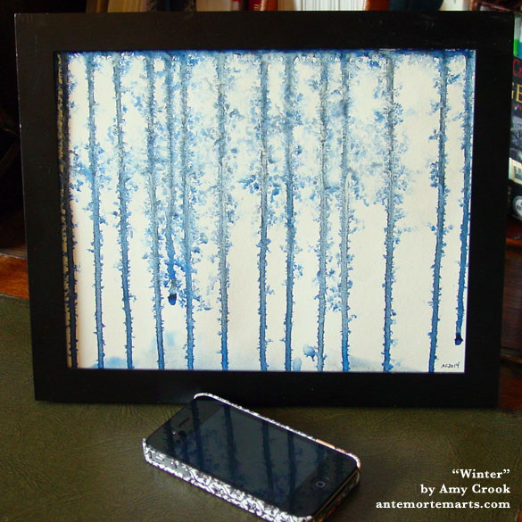 Winter, framed art by Amy Crook