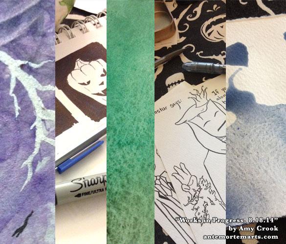 works in progress by Amy Crook, 8-18-2014