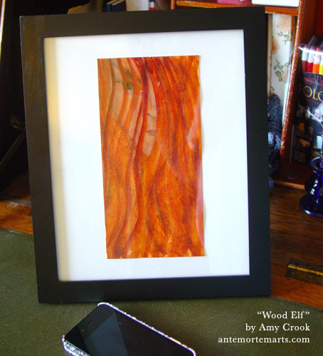 Wood Elf, framed art by Amy Crook