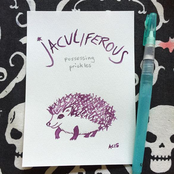 Word 11: Jaculiferous