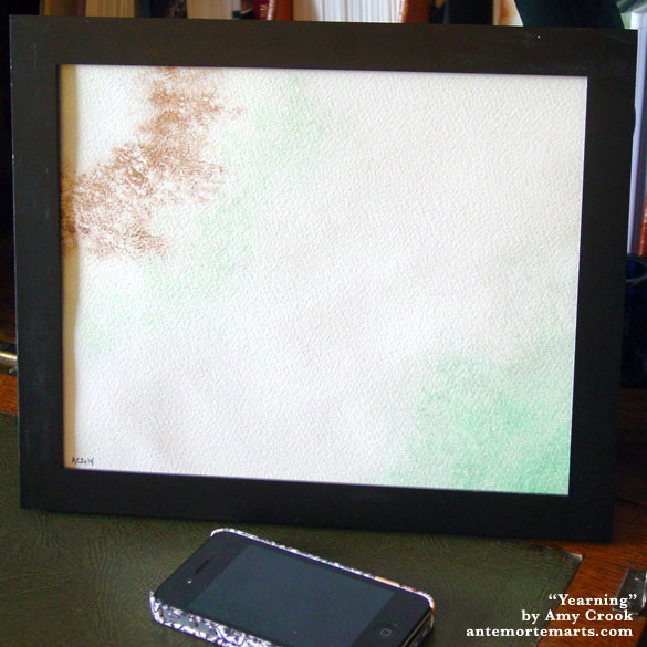 Yearning, framed art by Amy Crook