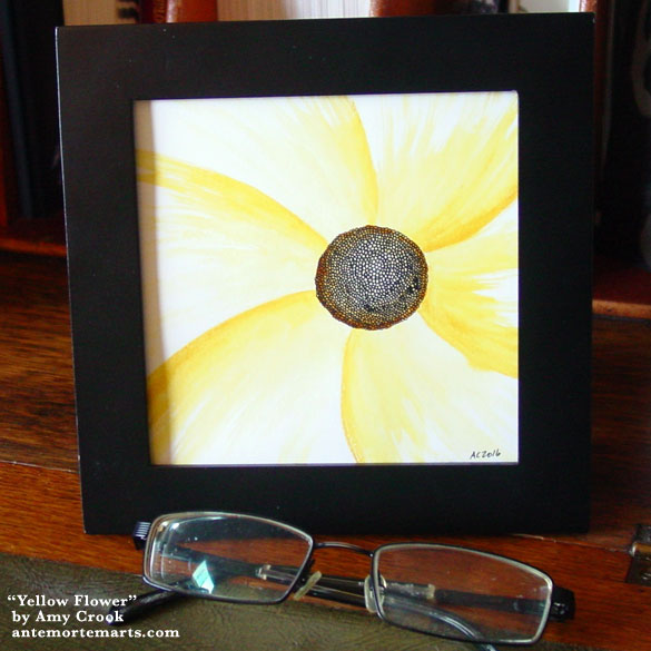 Yellow Flower, framed art by Amy Crook