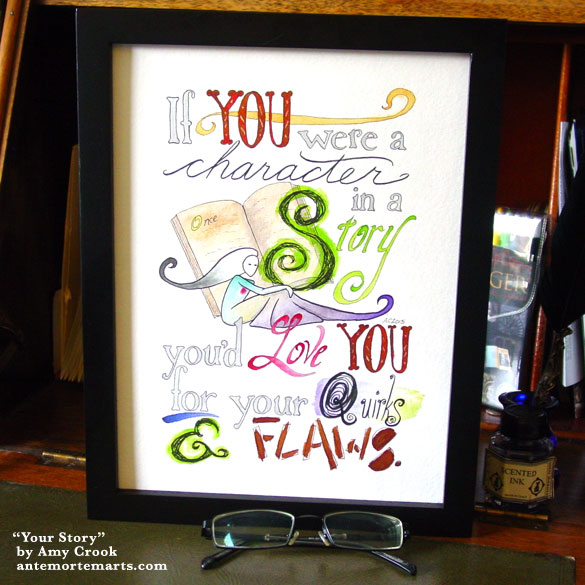 Your Story, framed art by Amy Crook
