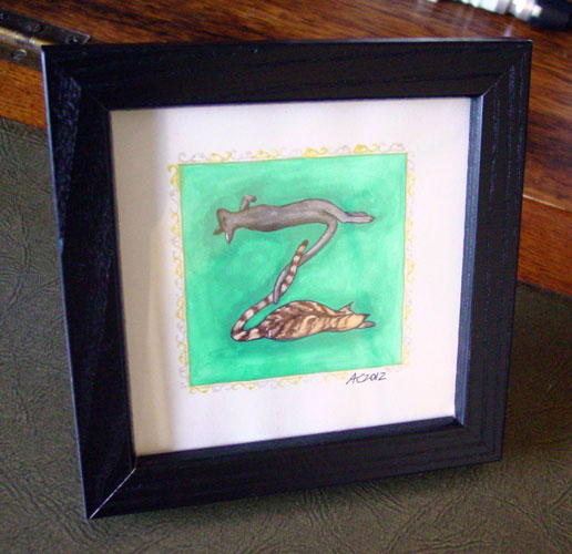 Z is for Zoomorphic, framed art by Amy Crook