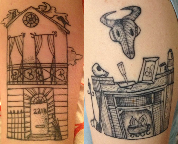 Baker Street Tinies tattoos, design by Amy Crook