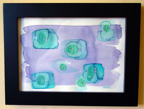 7 Seconds, framed art by Amy Crook