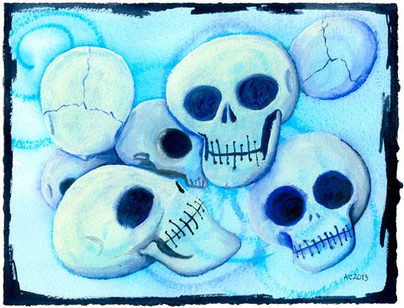 7 Skulls by Amy Crook
