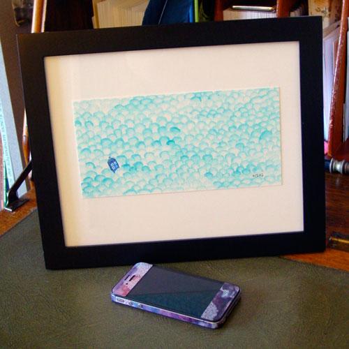 Adrift, framed, by Amy Crook