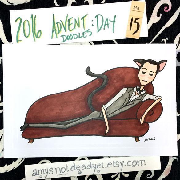 Advent 2016 day 15: Catboy Arthur, Inception parody art