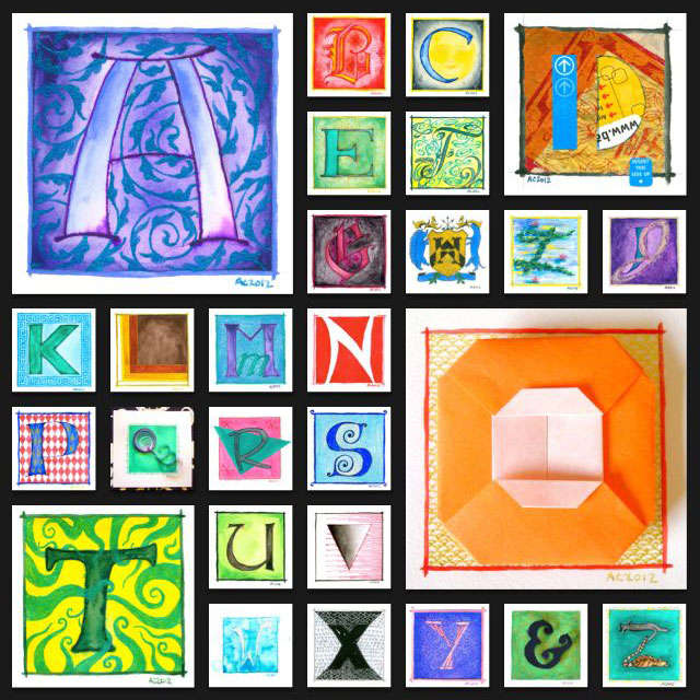 Illuminated Alphabet by Amy Crook