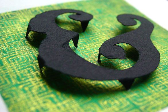 Ampersand, detail, by Amy Crook