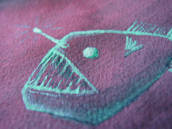 Angler Fish 1, detail, by Amy Crook
