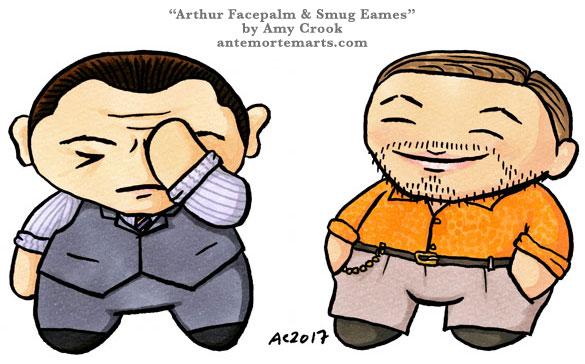 Arthur Facepalm & Smug Eames, chibi emoji by Amy Crook