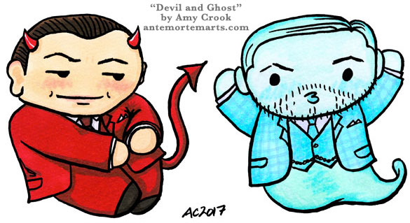 Devil and Ghost, Inception parody art by Amy Crook