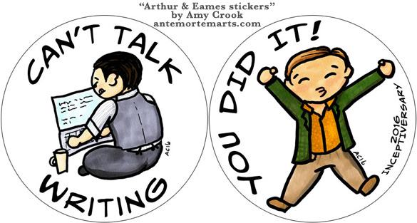 Arthur & Eames stickers by Amy Crook