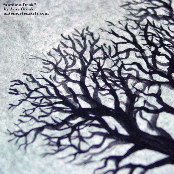 Autumn Dusk, detail, by Amy Crook