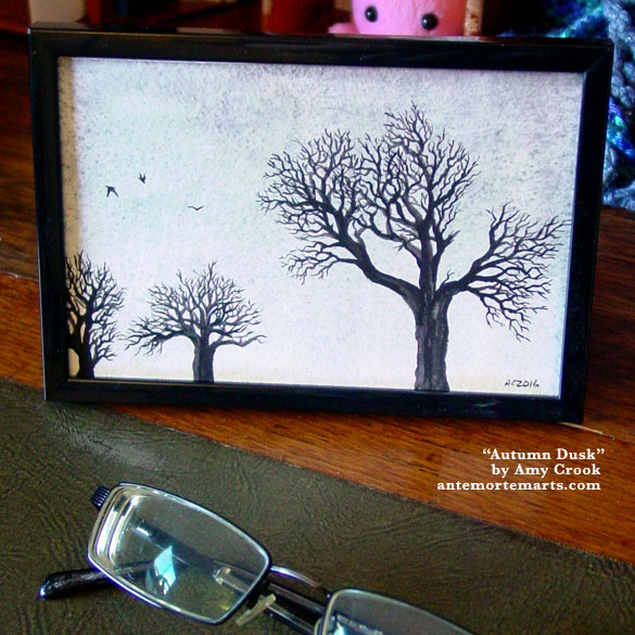 Autumn Dusk, framed art by Amy Crook