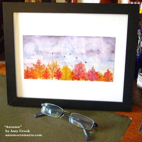 Autumn, framed art by Amy Crook