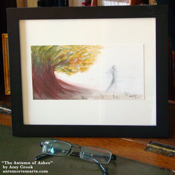 The Autumn of Ashes, framed art by Amy Crook