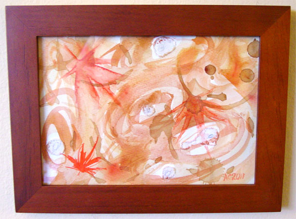 Autumn Winds, framed art by Amy Crook