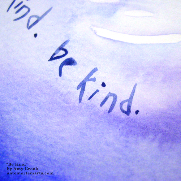 Be Kind, detail, by Amy Crook