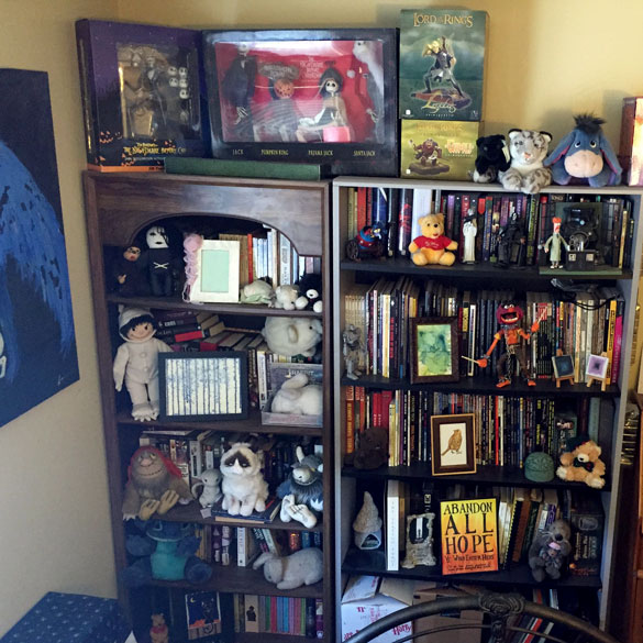 These are some of the bookshelves in my bedroom. Yes I said some.
