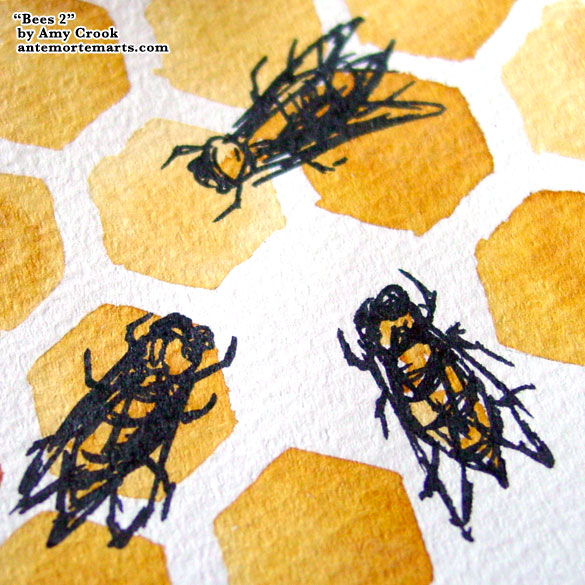 Bees 2, detail, by Amy Crook
