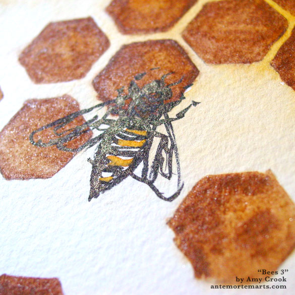 Bees 3, detail, by Amy Crook