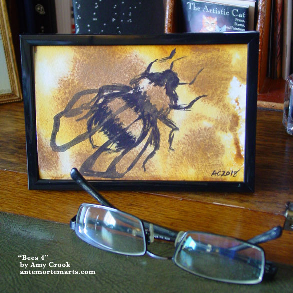 Bees 4, framed art by Amy Crook