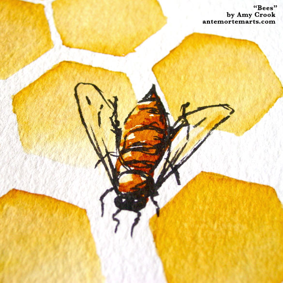 Bees, detail, by Amy Crook