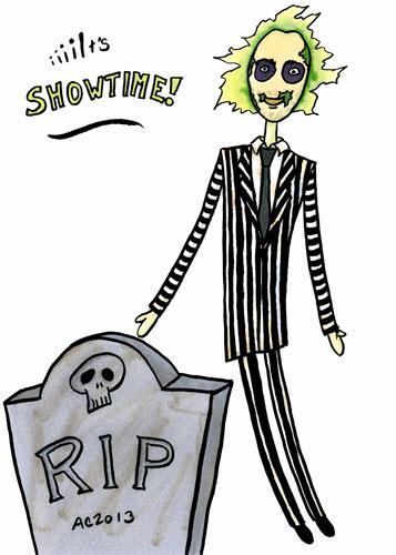 Beetlejuice, parody comic by Amy Crook