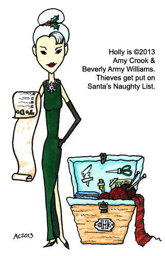 Holly the Organized Elf,  a comic commission for Beverly Army Williams by Amy Crook