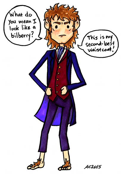 Bilberry, parody fan art for The Hobbit by Amy Crook