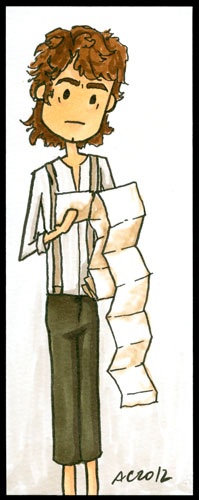Bilbo Bookmark 1 by Amy Crook