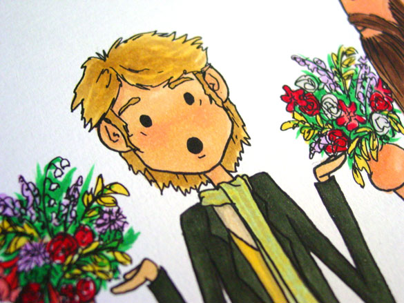 Flowers for Bilbo, detail, by Amy Crook