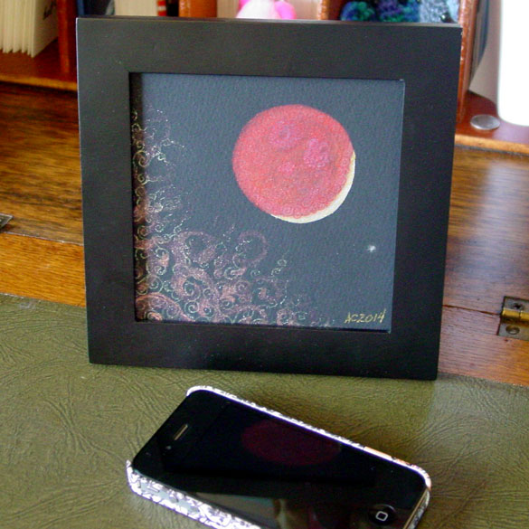 Blood Moon 4, framed art by Amy Crook