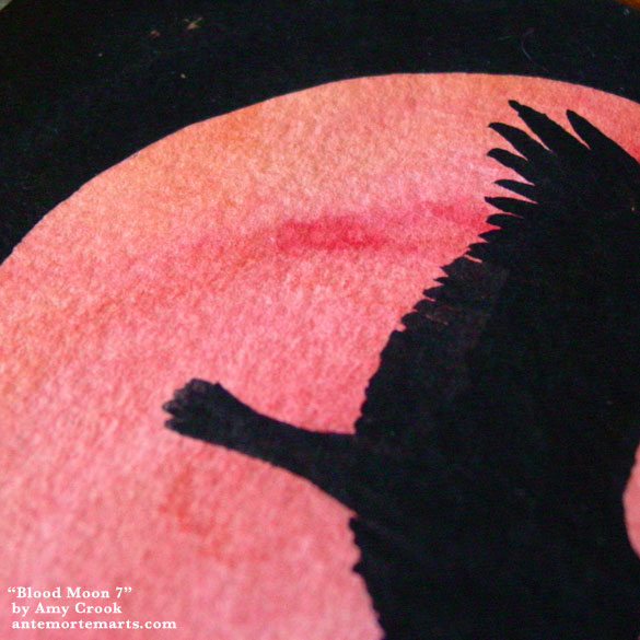 Blood Moon 7, detail, by Amy Crook