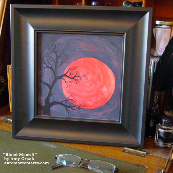 Blood Moon 8, framed art by Amy Crook