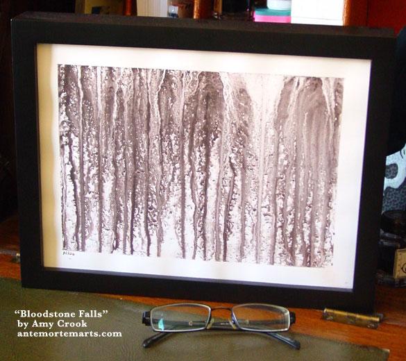 Bloodstone Falls, framed art by Amy Crook