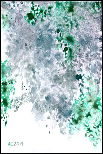 Blue Lilacs, abstract art by Amy Crook