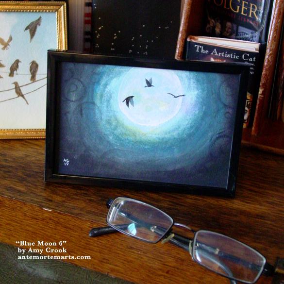 Blue Moon 6, framed art by Amy Crook