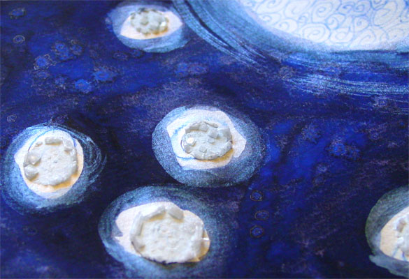 Blue Moon, detail 2, by Amy Crook