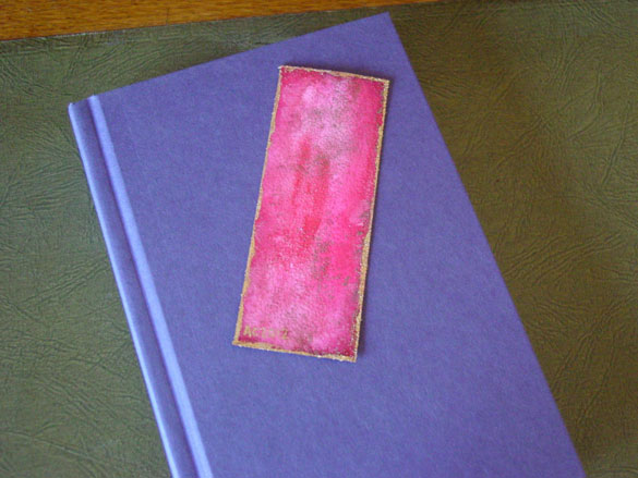 Bordello Red Bookmark, with book, by Amy Crook