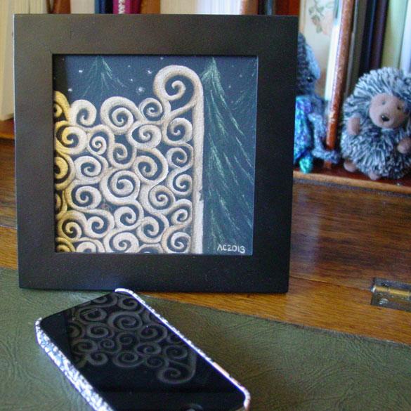 Brass Gates to Midnight 2, framed art by Amy Crook